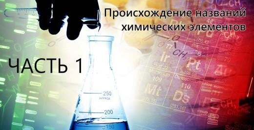 происхождение названий химических элементов