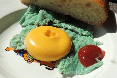 зеленая яичница