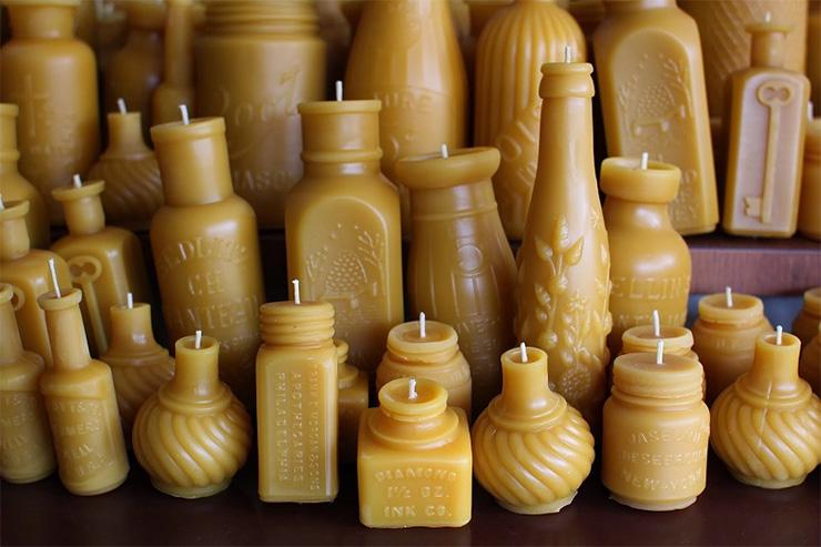 Как сделать свечу в из мыла 117