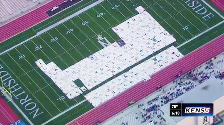 таблица Менделеева размером со стадион
