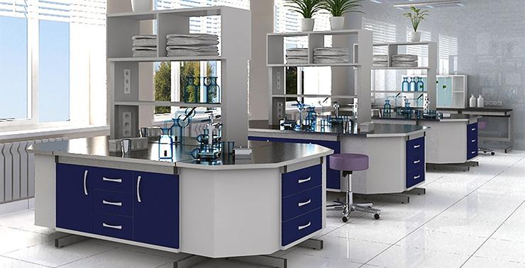 Красивая мебель в лаборатории