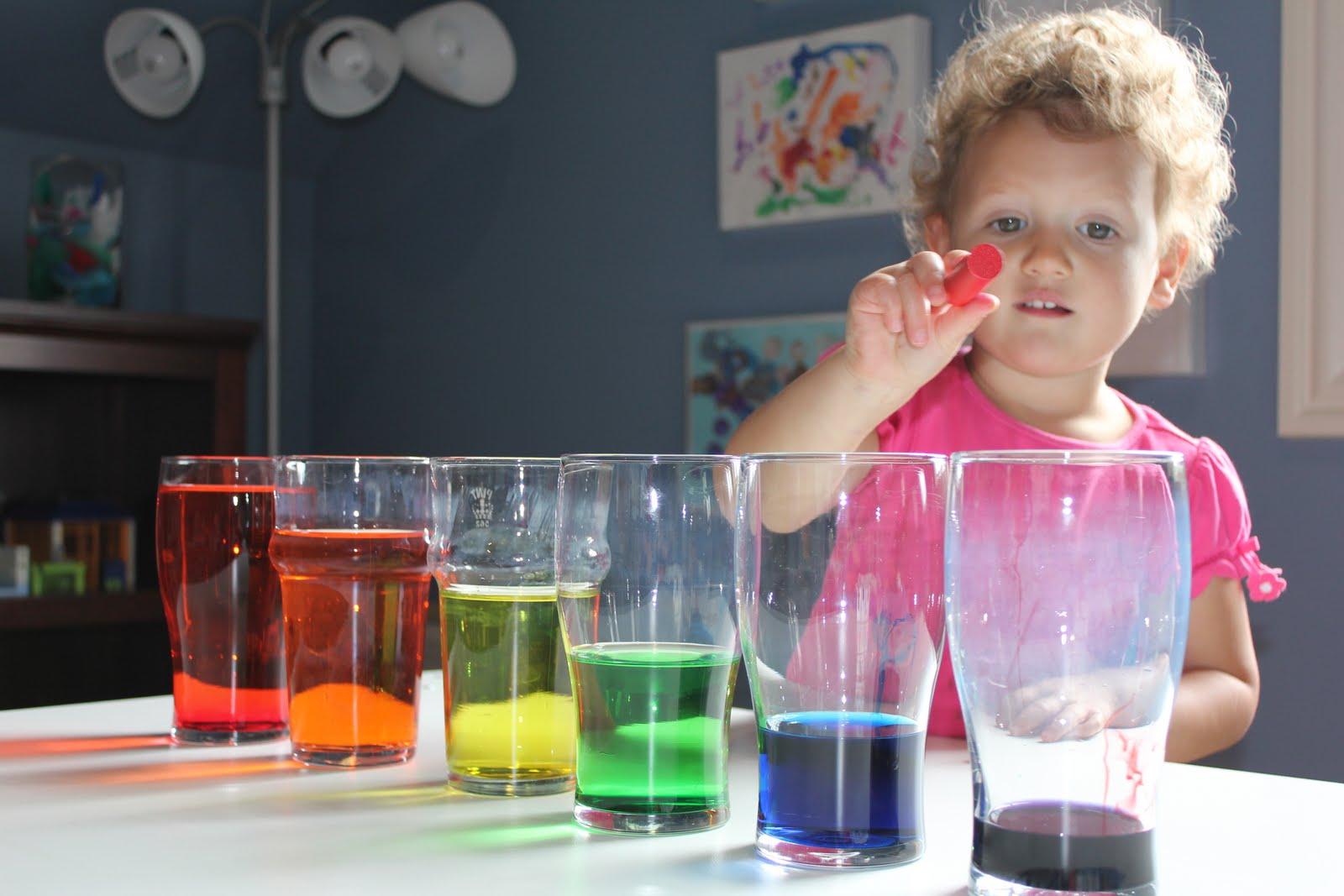 Эксперимент радуга в стакане